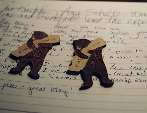 california bears on a guest book